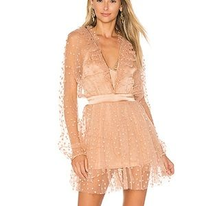All That Glitters Mini Dress in Almond